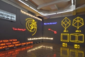 AMNESIA: VARIOUS, LUMINOUS, FIXED. - Joseph Kosuth