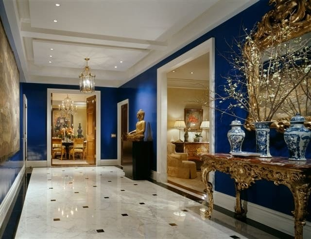Lacquered Blue Walls