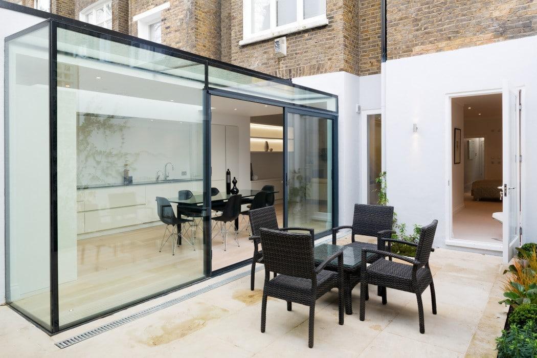 Glass Box Extension - Lexham Gardens Knightsbridge London