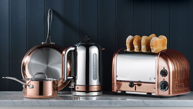 Designer Appliances For The Modern Home - Dualit Copper Classic Kettle & Toaster
