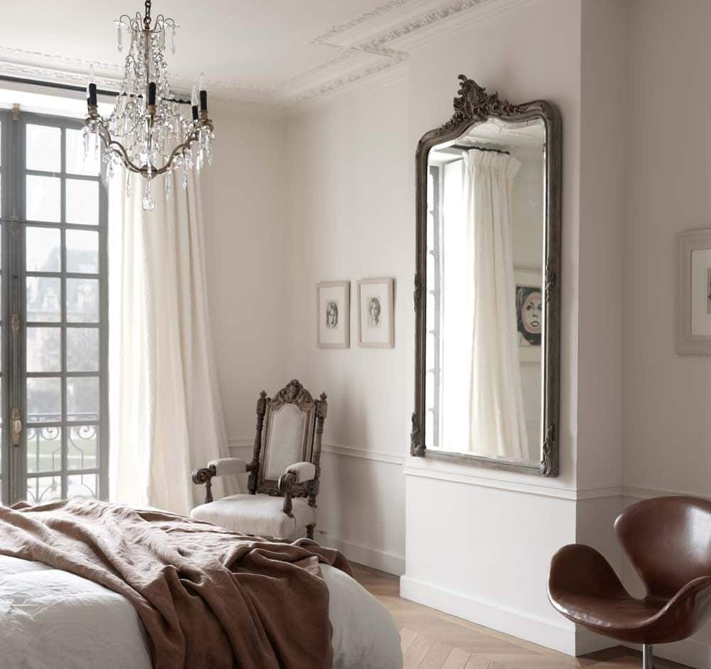 5 Space Saving Ideas For The Bedroom - Paris Apartment - Light, Airy With Large Mirror