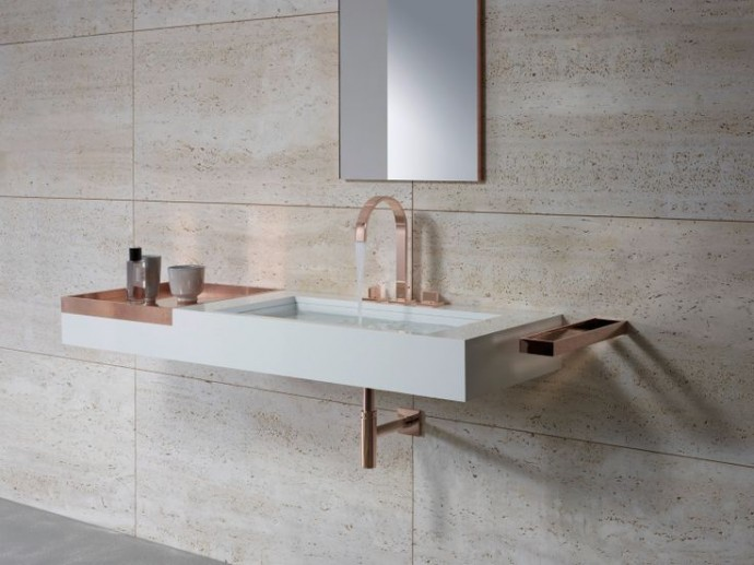 Modern Bathroom Trend for 2015 - Rose Gold Bathroom Wash Basin MEM By Dornbracht