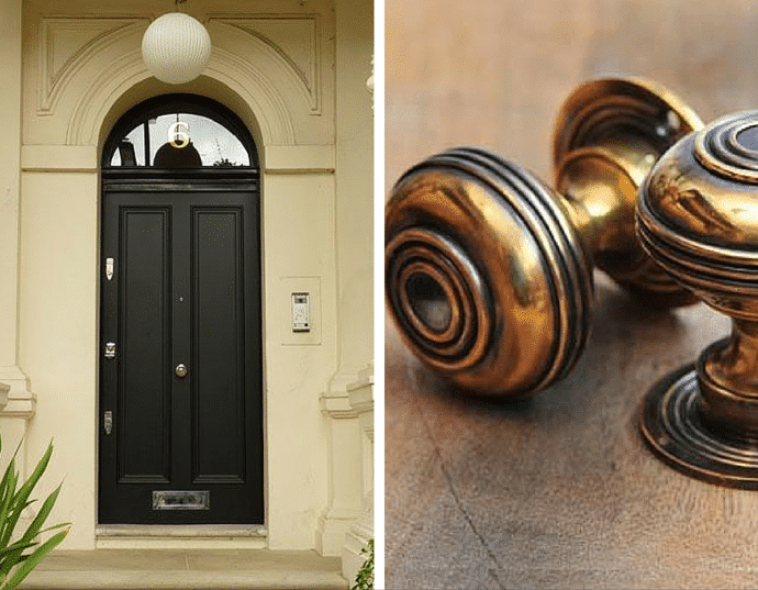 How To Enhance The Style Of Your Home - Regency Style Black Door & Regency Style Door Knobs