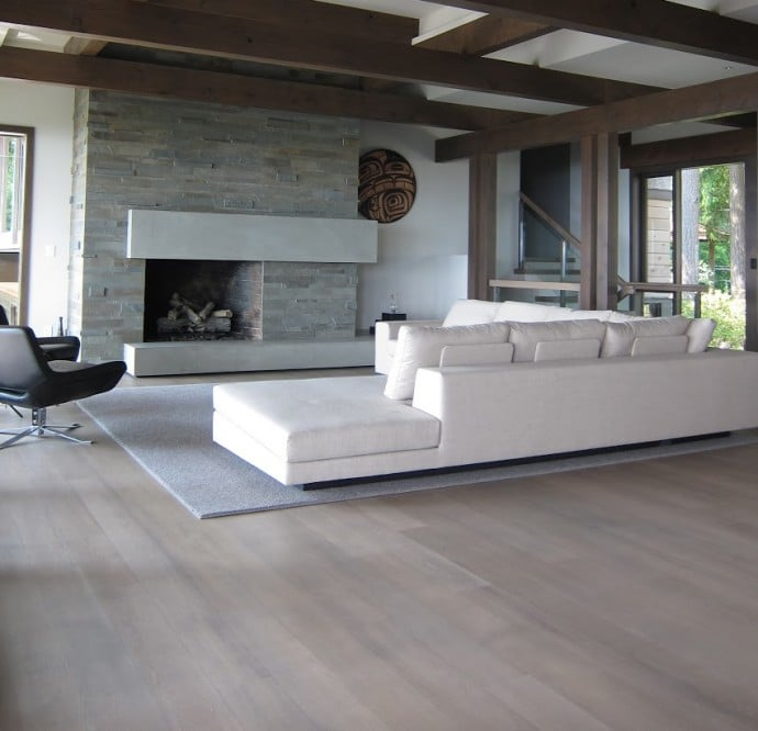 Hot Wood Flooring Trends - Grey Hardwood Flooring