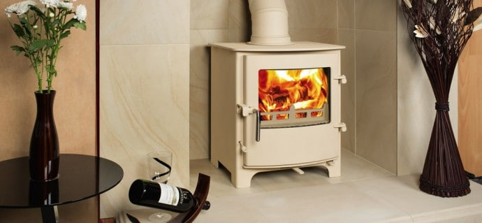 10 Interior Design Items Proud To Be 'Made In Britain' - Cream Town & Country Wood Burning Stove