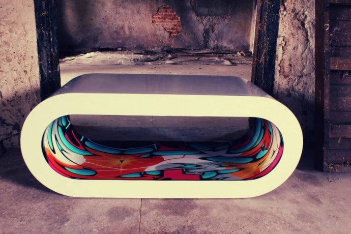 Zespoke Graffiti Retro Hoop Coffee Table