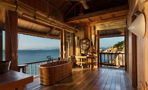 7 Amazing Ocean View Bathrooms That Will Have You Packing Your Suitcase - Six Senses Ninh Van Bay, Vietnam