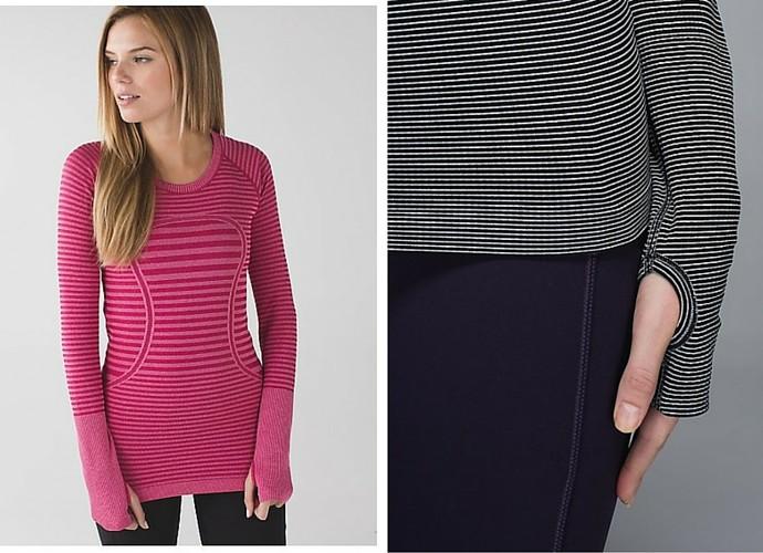 New Year Workout Wear - Lululemon Long Sleeve Top