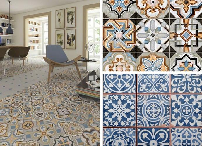 Moroccan style floor tiles