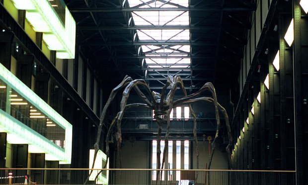 A Look At The New Tate Modern London -Louise Bourgeois's Giant Spider Photograph By Martin Godwin For The Guardian