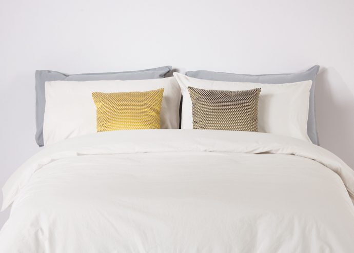 Greige bedding from MADE.COM