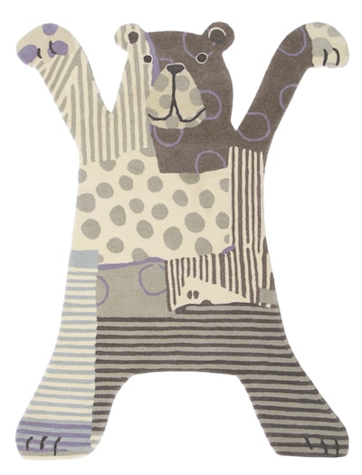 Kids Bear Rug (Grey)