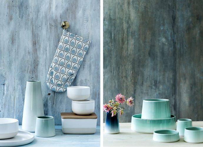 5 Home Interior Trends For Summer 2016 - Casalinga Ombre ceramics, by ceramicist and designer Trine Weng