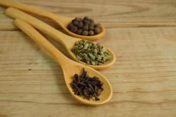 How to Choose Your New Kitchen Worktop - Wooden Worktops, With Spoons Holding Spices