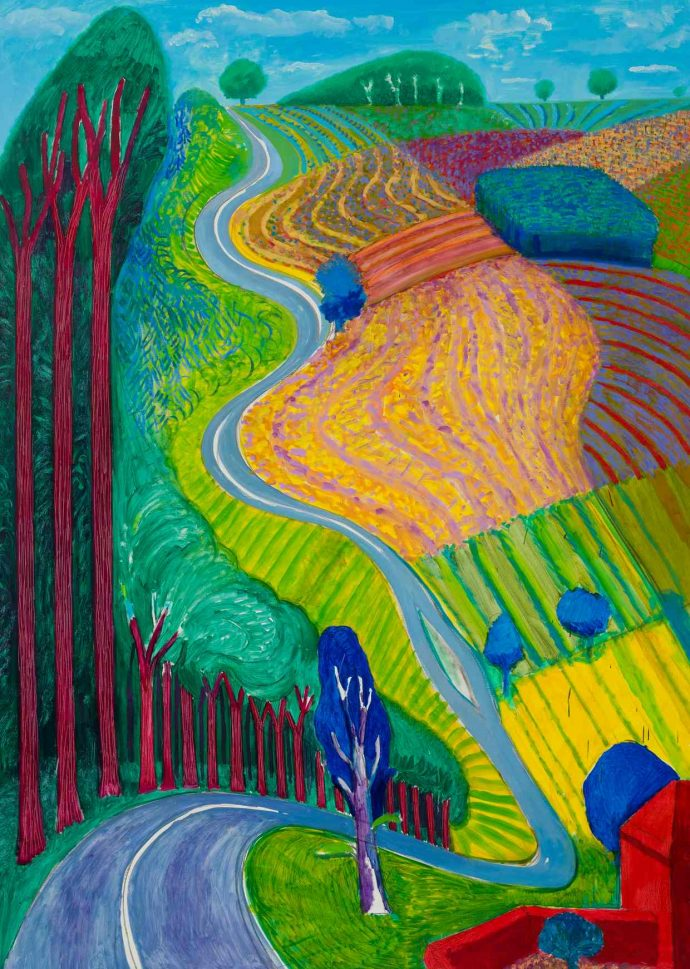 David Hockney London Tate Britain - Going Up Garrowby Hill, 2000 Photograph: © David Hockney/Tate