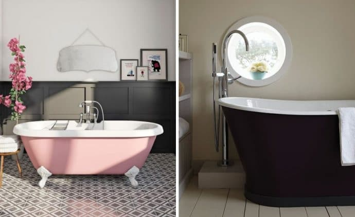 9 ways to spruce up your bathroom - Coloured Baths