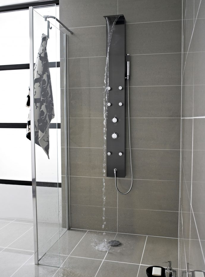 The Main Benefits of Shower Tower Installation - Black Thermostic Shower Tower Lifestyle - From usa.hudsonreed.com