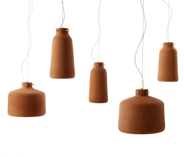 New Lighting Trends in 2017 - Chimney Clay Pendant Lamp - By Benjamin Hubert