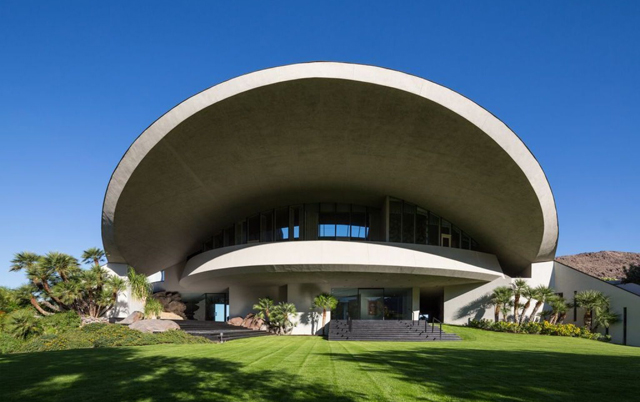 5 Stunningly Unique Roof Designs - Bob Hope Estate - Designed By Achitect John Lautner.