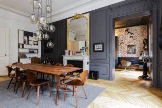 Autumn Flooring Trends 2017 - Boiseries Noires Apartment Paris - By michaeltimsit.fr