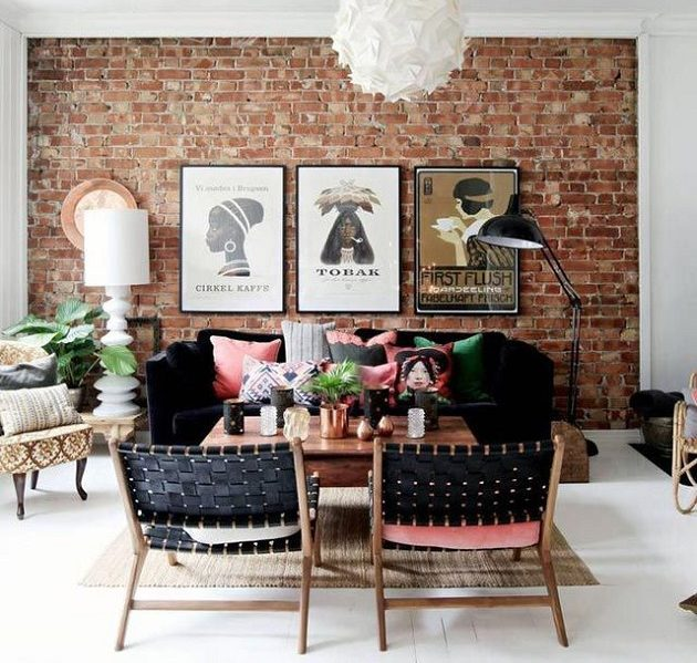 Fashionable Feature Walls - Image From Elle