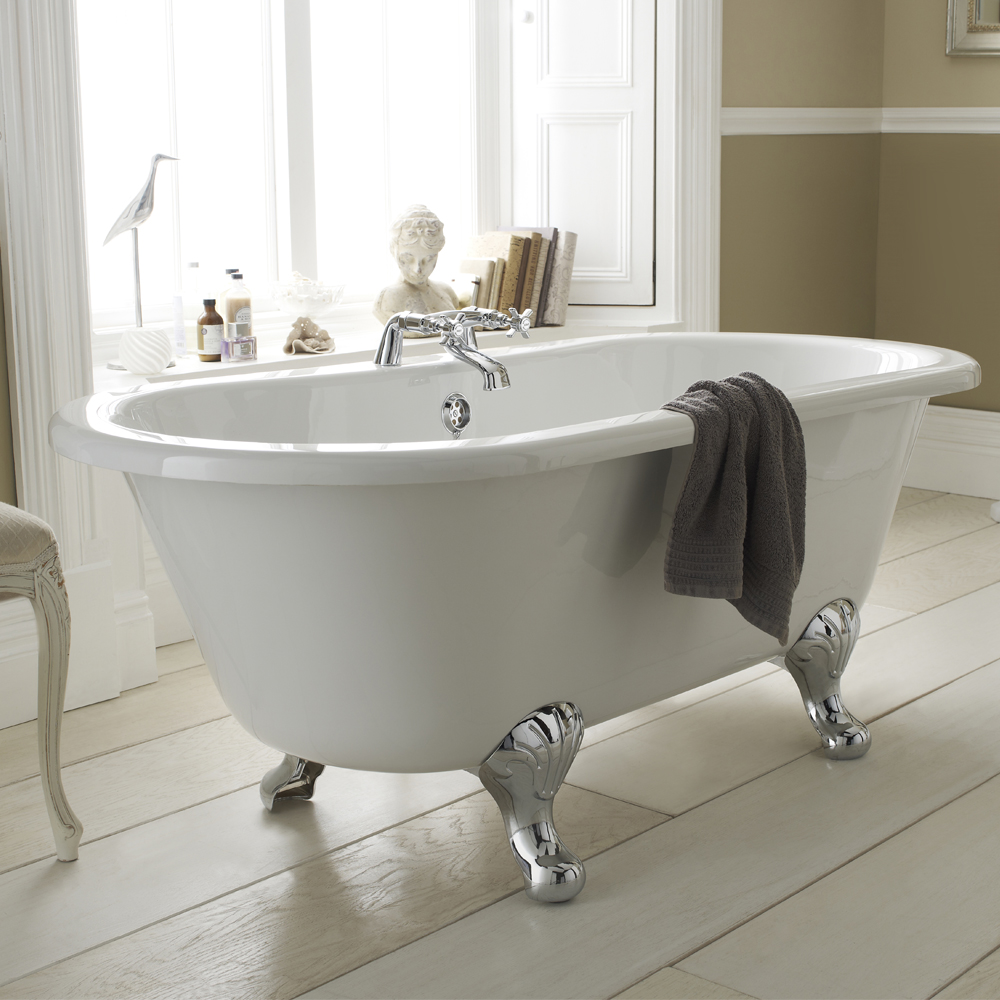 How to turn your bathroom into a home spa - Premier Grosvenor Roll Top Bath - From VictoriaPlumbing