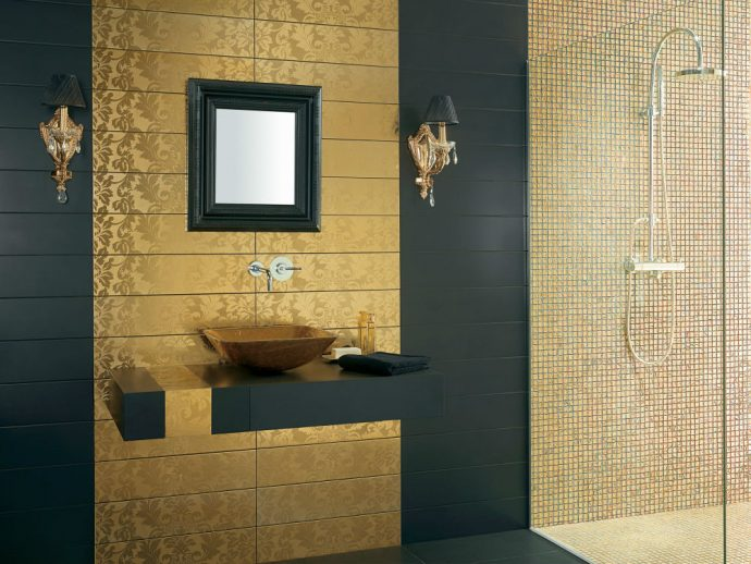 How To Turn Your Bathroom Into A Golden Oasis