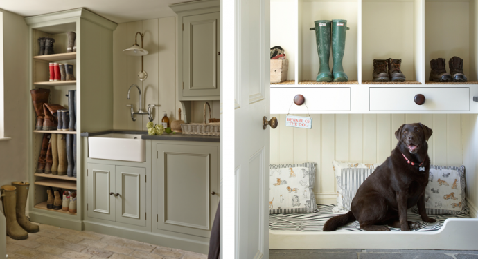 4 Key Elements For Designing The Perfect Boot Room - Dog Bed - Image From Ideal Home