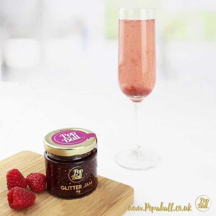 How To Throw An 'Instagramable' Garden Party - Image Via Popaball.co.uk - Raspberry Glitter Jam with Prosecco Flavouring