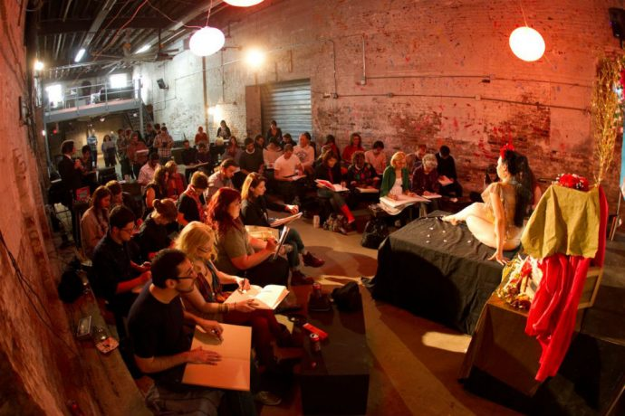 5 London Date Ideas To Feel Flash When You're Actually Skint - Dr Sketchy's Burlesque Life-Drawing Classes - Image Via York Mix