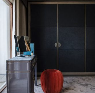 4 Reasons To Choose Bespoke Home Storage Furniture - Image Via Livingetc.com - bespoke by Daniel Hopwood, Wrapped In An Alcantara Fabric.