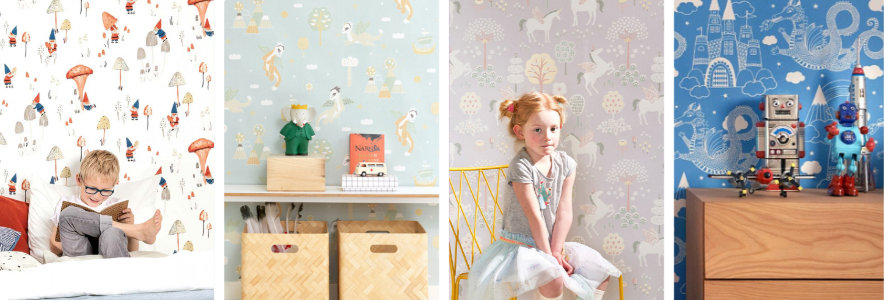 Create A Fairytale-Themed Bedroom For Your Child - Image By WallpaperFromThe70s.com
