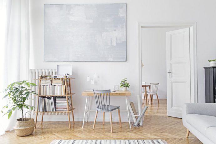 Scandinavian Home, Desk, Wall Art
