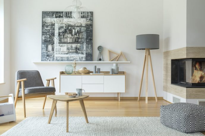 Scandi grey living room