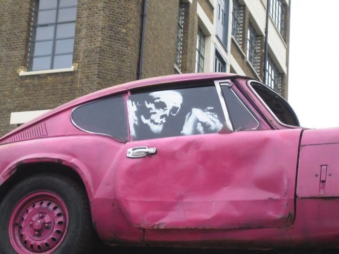 Banksy's Triumph GT6 MkIII