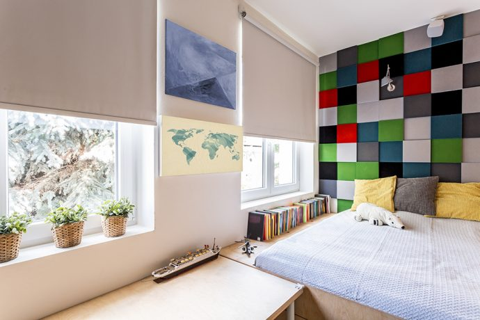 Modern Childs Bedroom With Blackout Blinds